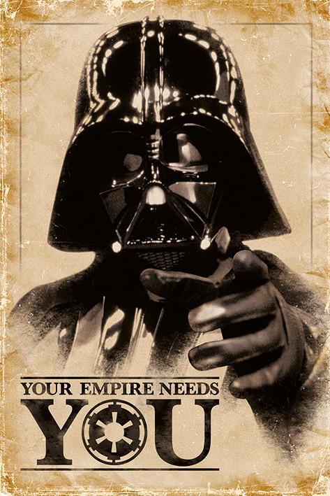 Juliste STAR WARS - empire needs you