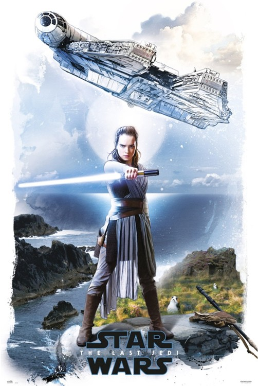 Juliste  Star Wars: The Last Jedi - Rey