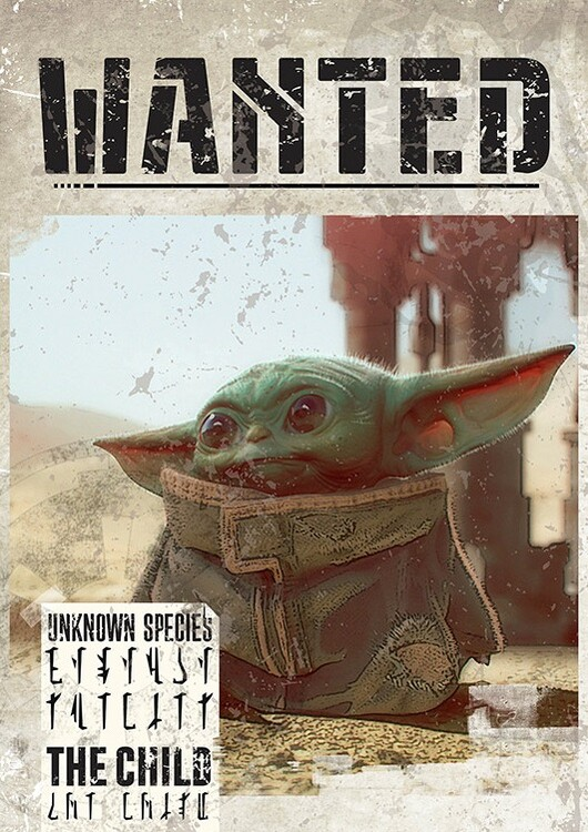 Juliste Star Wars: The Mandalorian - Baby Yoda Wanted
