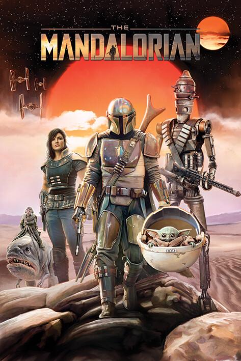 Juliste Star Wars - The Mandalorian - Group