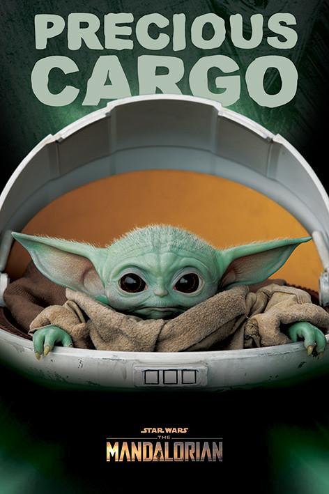 Juliste  Star Wars: The Mandalorian - Precious Cargo (Baby Yoda)