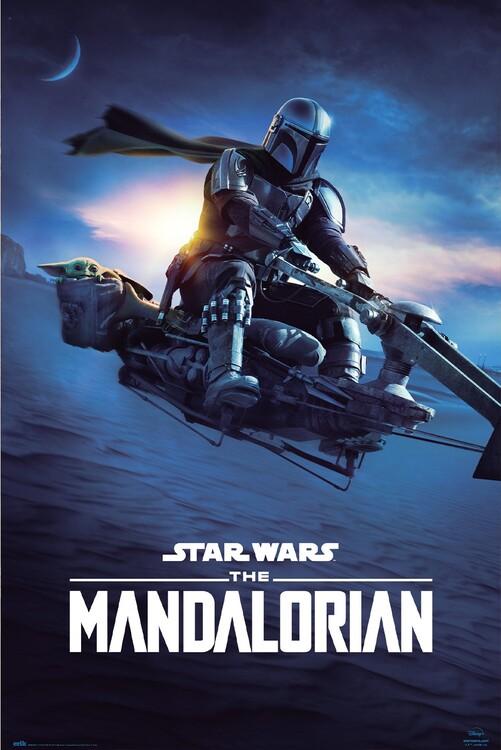 Juliste Star Wars: The Mandalorian - Speeder Bike 2