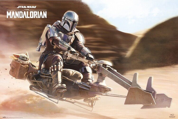 Juliste Star Wars: The Mandalorian - Speeder Bike