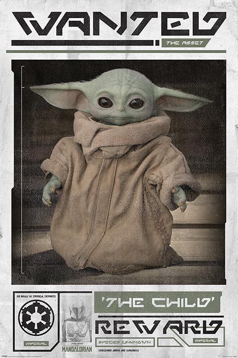 Juliste Star Wars: The Mandalorian - Wanted The Child (Baby Yoda)