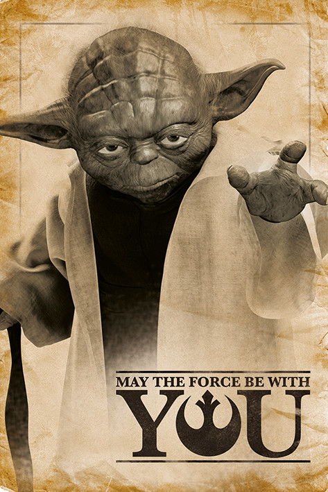Juliste  Star Wars - Yoda, May The Force Be With You