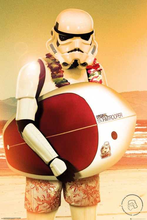Juliste  Stormtrooper - Surf