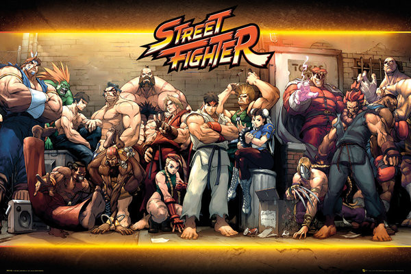 Juliste Street Fighter - Characters