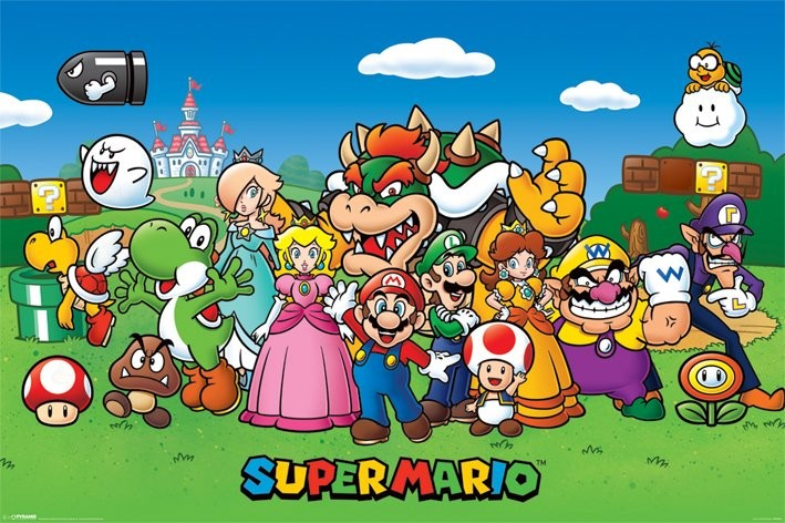 Juliste Super Mario - Characters
