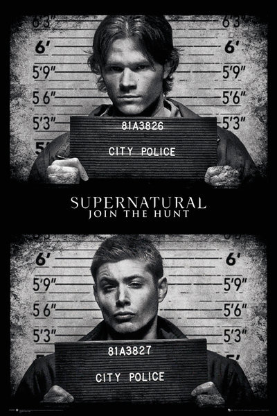 Juliste Supernatural - Mug Shots