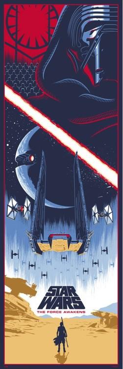 Juliste Tähtien sota Episodi VII: The Force Awakens
