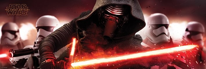 Juliste Tähtien sota: Episodi VII – The Force Awakens - Kylo Ren & Stormtroopers