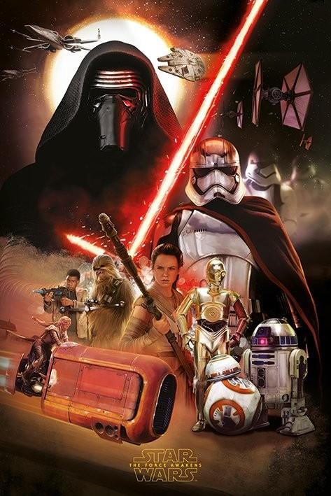 Juliste Tähtien sota: Episodi VII – The Force Awakens - Montage