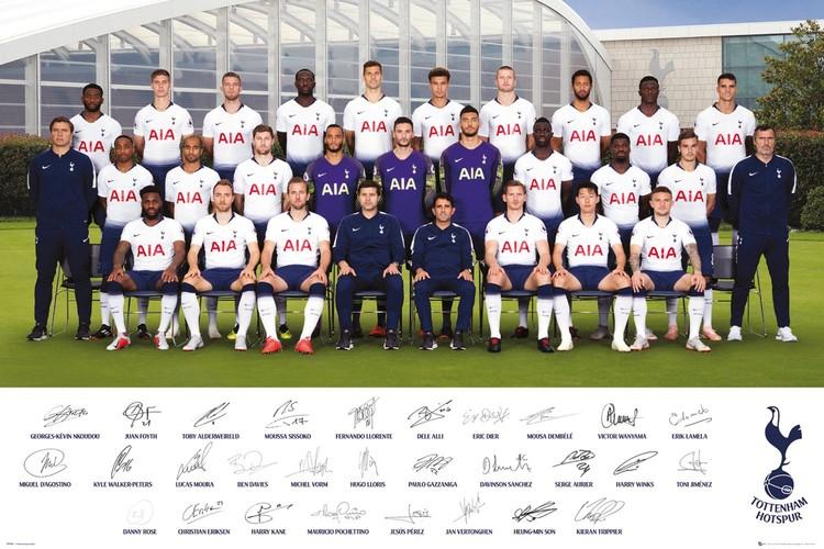 Juliste  Tottenham Hotspurs - Team Poster 18-19