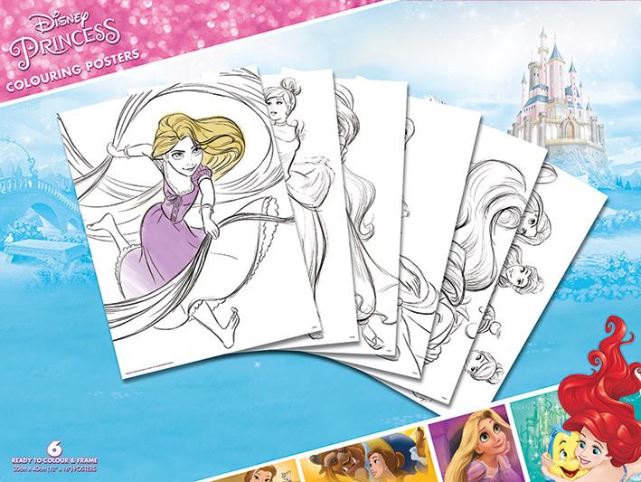 Väritysjuliste Disney - Princess