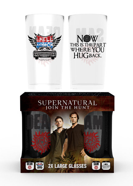 Juomalasi Supernatural - Dean and Sam