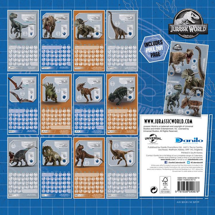 Jurassic World   Wall Calendars | Large selection
