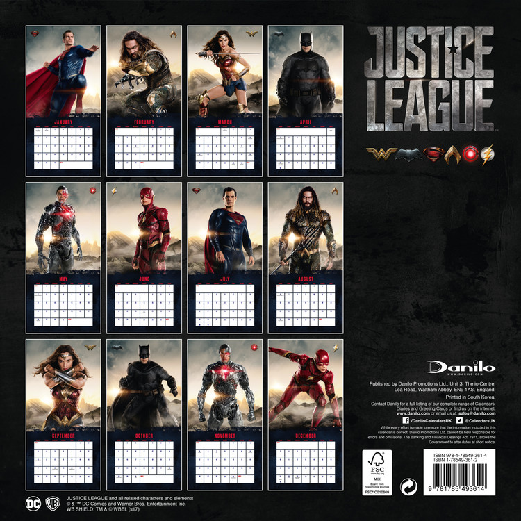 Calendrier Ironman 2021 Justice League   Wall Calendars | Large selection