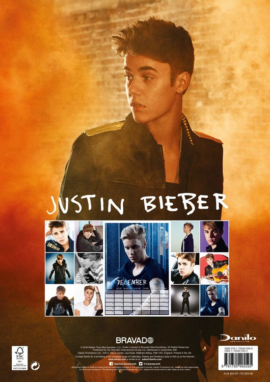 Justin Bieber   Wall Calendars | Large selection