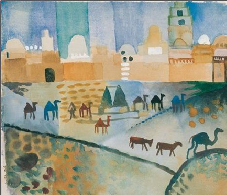 Kairouan I, 1914 Reproduction d'art