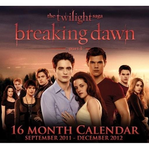 Calendario 2012   TWILIGHT BREAKING DAWN Kalenteri 2021   tilaa