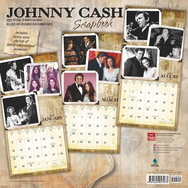 Kalenteri 2018 Johnny Cash