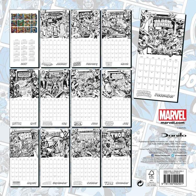 Kalenteri 2018 Marvel comics