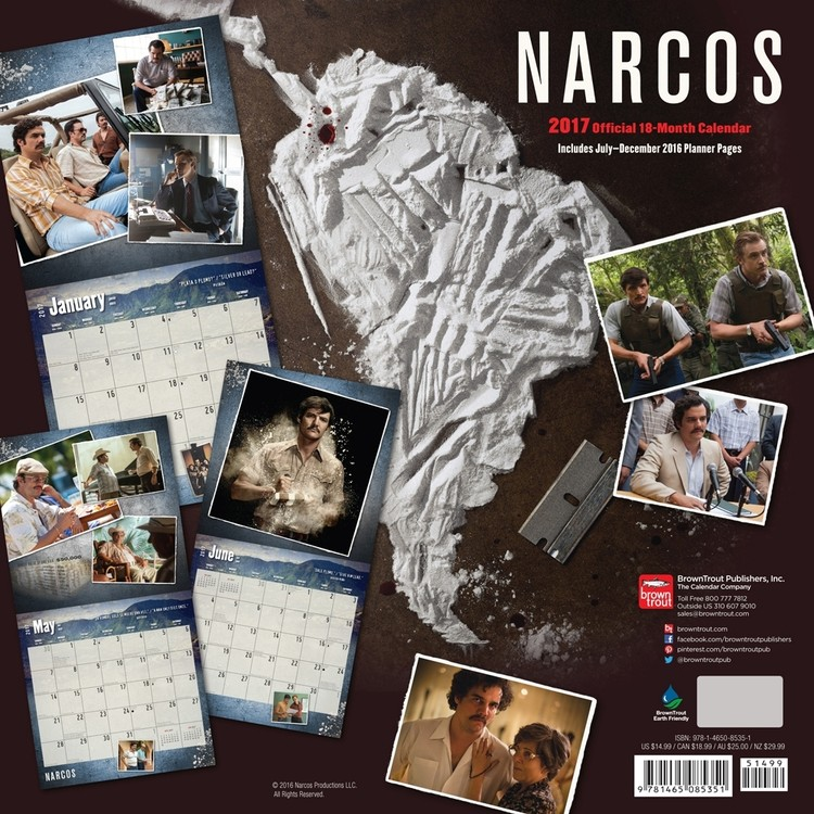 Kalenteri 2018  Narcos