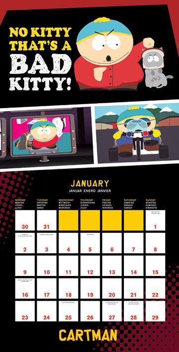 Kalenteri 2018  South Park