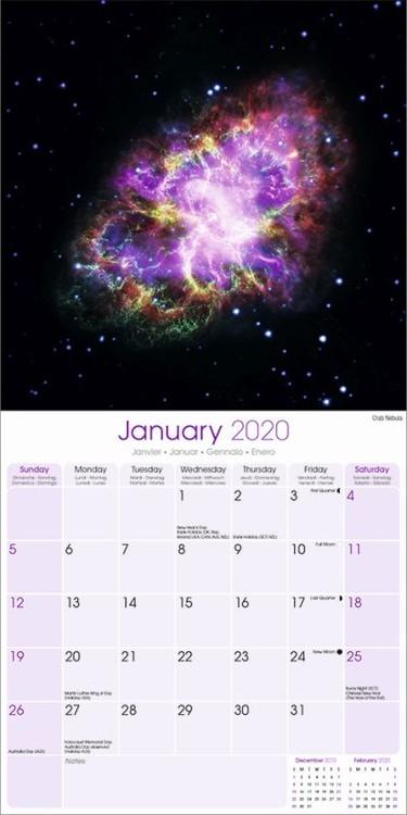 Kalenteri 2020 Spaced Out