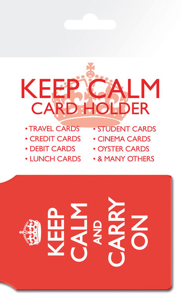 Keep Calm And Carry On Porte-Cartes