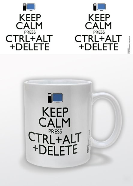 Cup Keep Calm Press Ctrl Alt Delete
