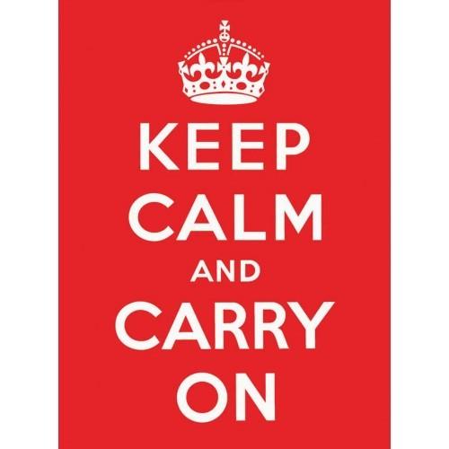 KEEP CALM RED Plaque métal décorée