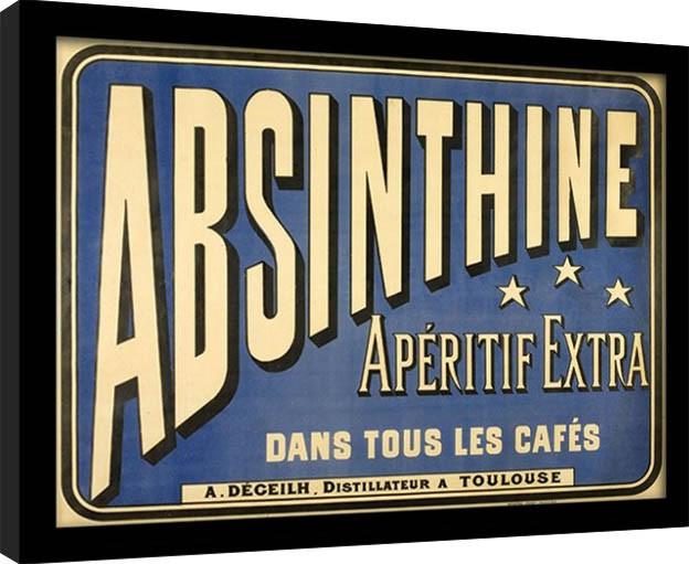 Absintti - Absinthe Aperitif kehystetty lasitettu juliste