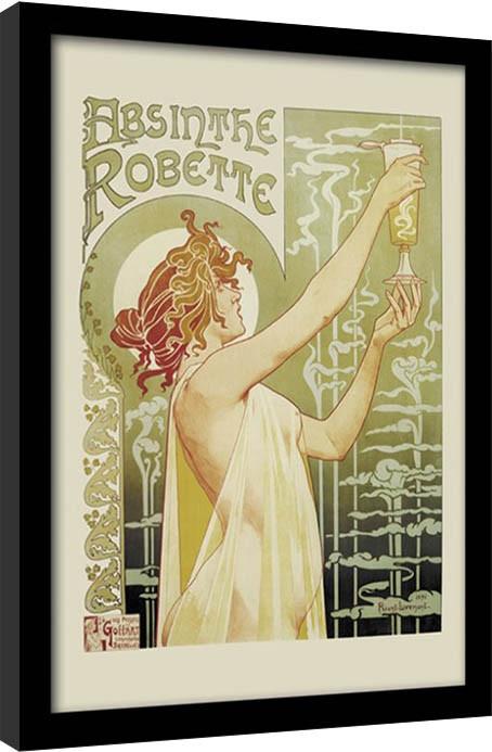 Absintti - Absinthe Robette Kehystetty juliste
