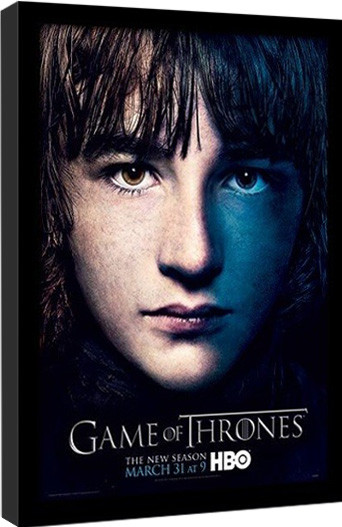 Kehystetty juliste GAME OF THRONES 3 - bran