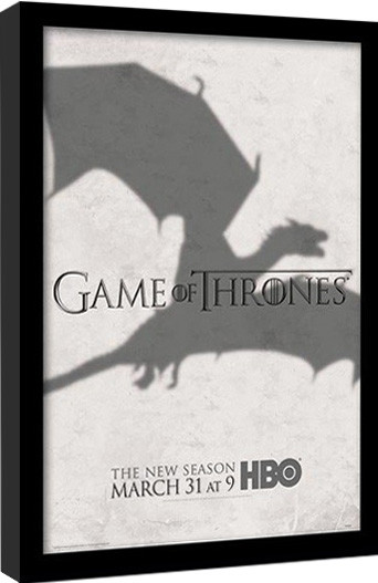 GAME OF THRONES 3 - shadow Kehystetty juliste