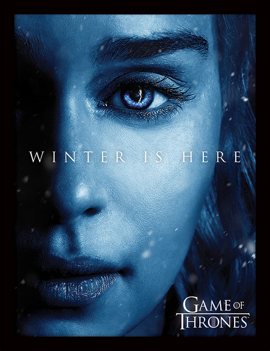 Game of Thrones - Winter is Here - Daenerys Kehystetty juliste
