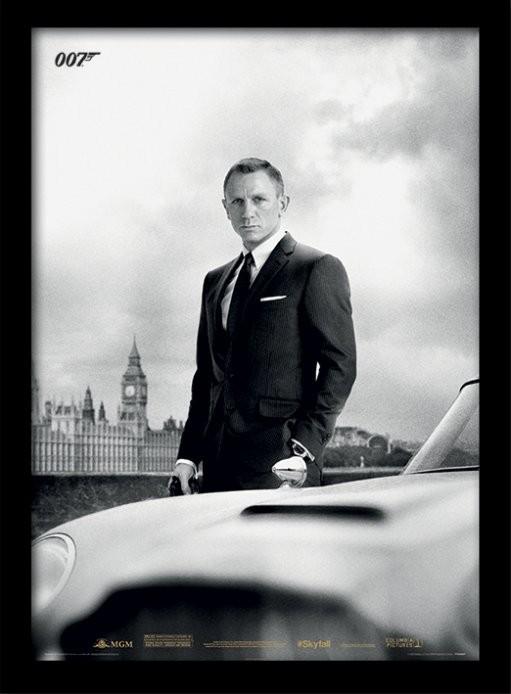 Kehystetty juliste James Bond (Skyfall) - Bond & DB5
