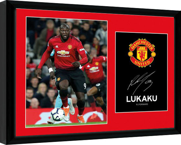 Manchester United - Lukaku 18-19 Kehystetty juliste