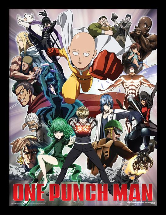 One Punch Man - Heroes And Villains Kehystetty juliste - tilaa netistä  Europosters.fi