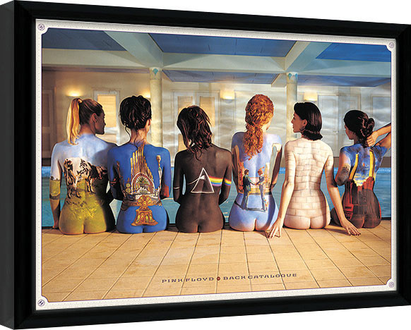 Kehystetty juliste Pink Floyd - Back Catalogue