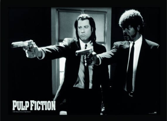 PULP FICTION - guns Kehystetty juliste