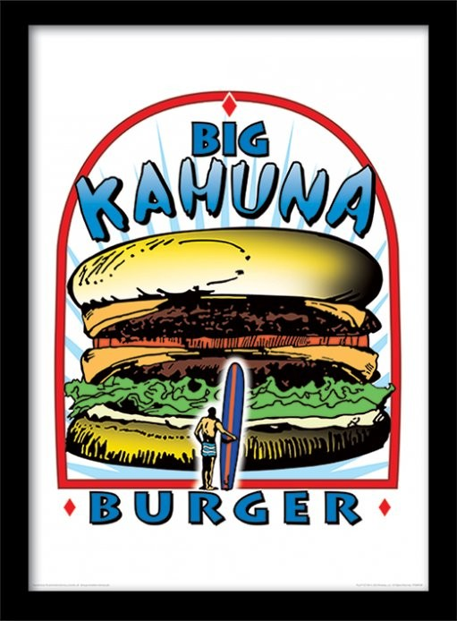 Kehystetty juliste PULP FICTION: TARINOITA VÄKIVALLASTA - big kahuna burger
