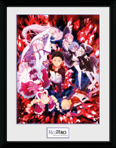 Re-Zero - Key Art Kehystetty juliste