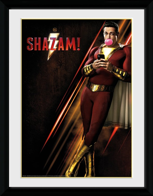 Shazam - One Sheet Kehystetty juliste