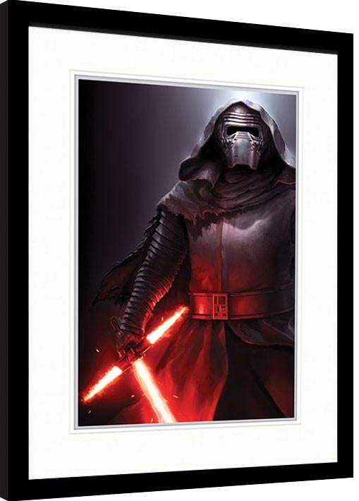 Tähtien sota Episodi VII: The Force Awakens - Kylo Ren Stance Kehystetty juliste
