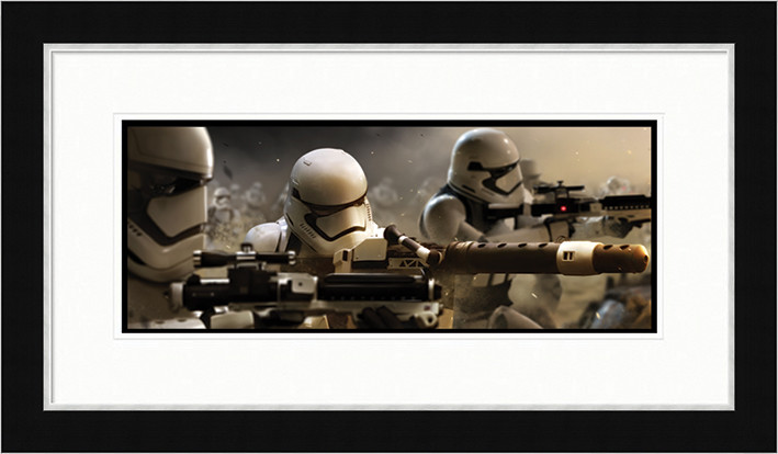 Tähtien sota Episodi VII: The Force Awakens - Stormtrooper Trench Kehystetty juliste