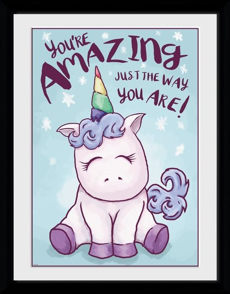 Unicorn - Amazing Kehystetty juliste