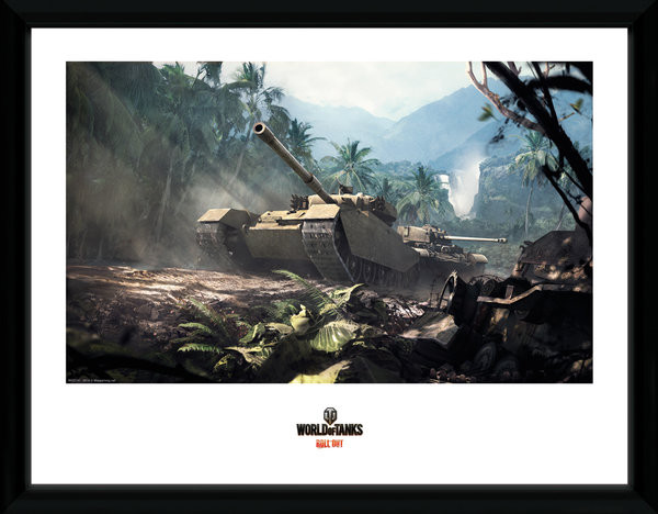 World of Tanks - Forest Tanks Kehystetty juliste