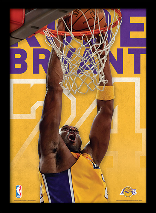 NBA - Kobe Bryant Kehystetty lasitettu juliste